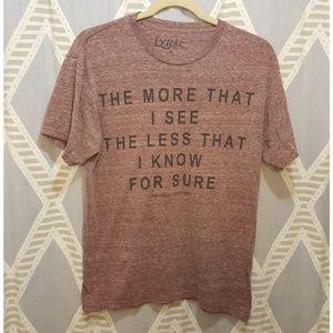Shirts - John Lennon Lyrics T-Shirt